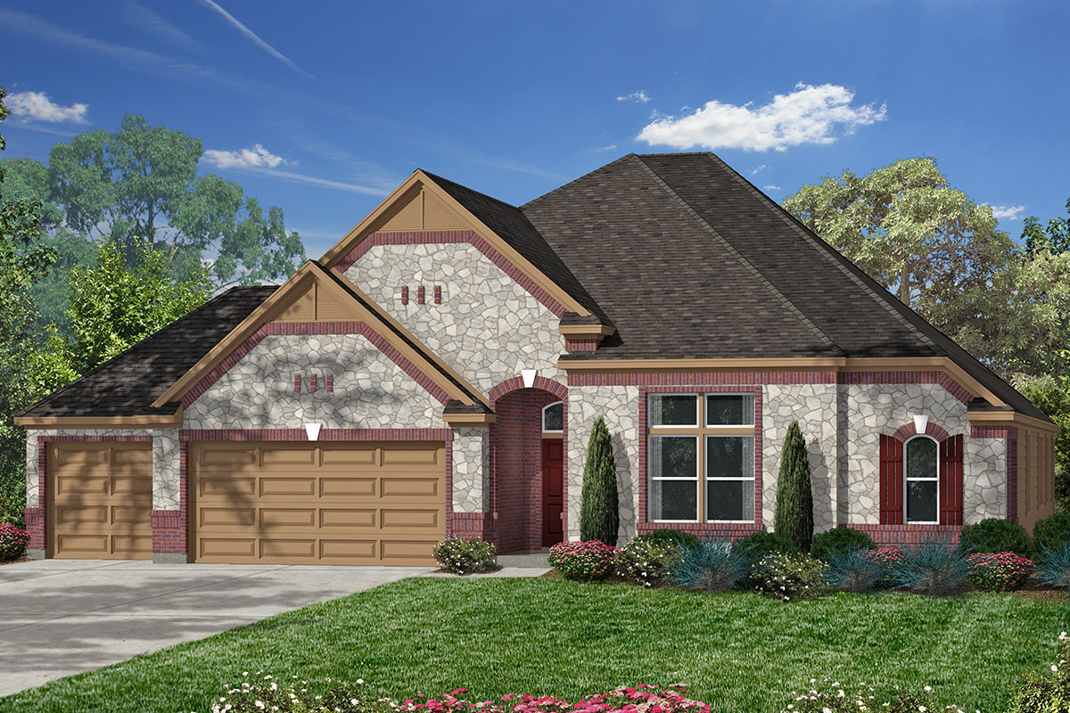 Plan 2832 new home floor plan in lakewood pines estates for Home elevation houston