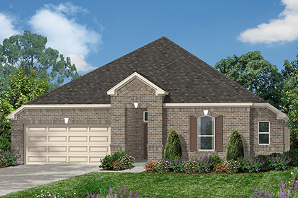 Plan 2858 at lakewood pines estates in houston tx kb home for Home elevation houston