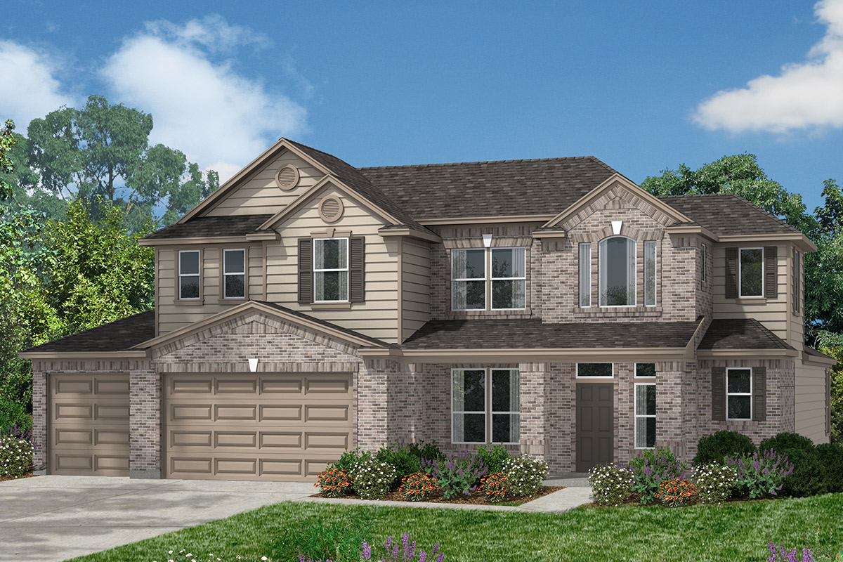 Plan 2866 new home floor plan in lakewood pines estates for Houston house elevation