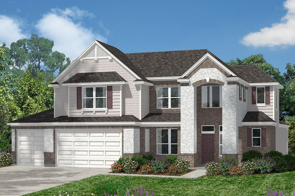 Plan 2866 new home floor plan in lakewood pines estates for Home elevation houston