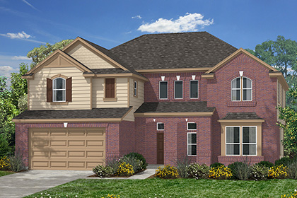 Plan 3306 at lakewood pines estates in houston tx kb home for Home elevation houston
