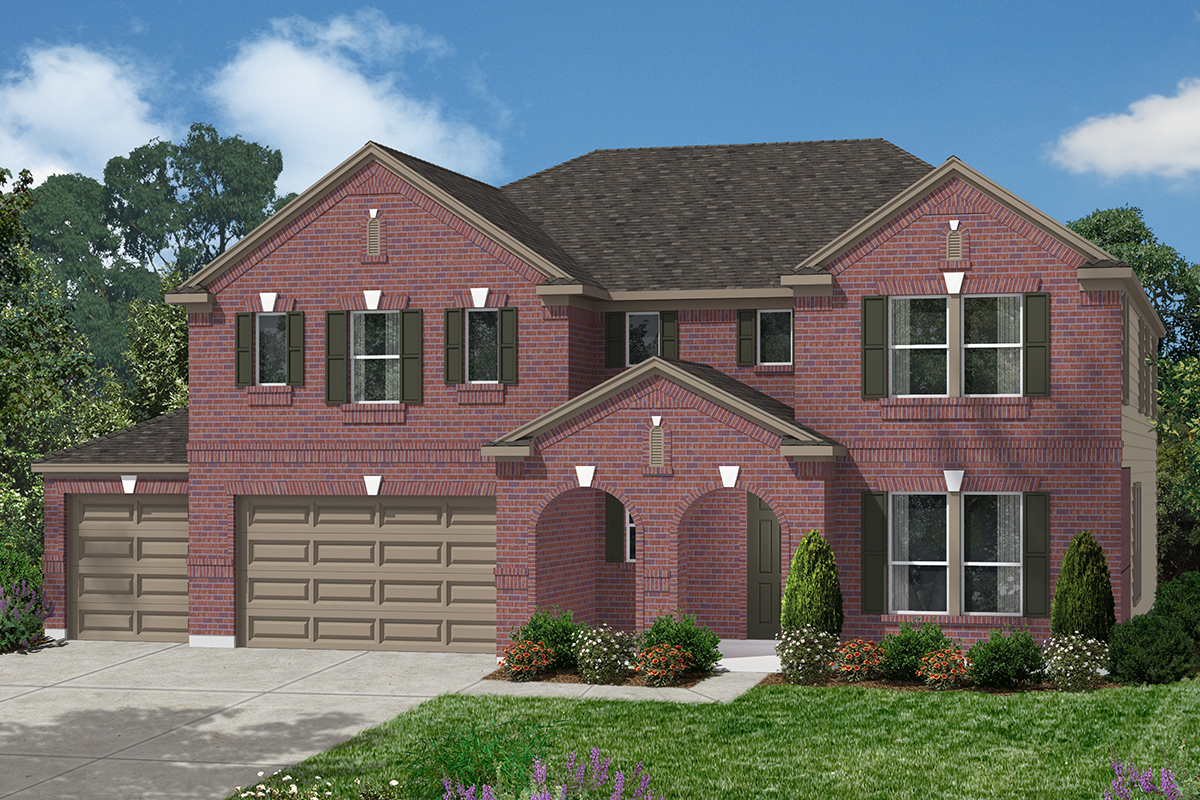 Plan 4043 new home floor plan in lakewood pines estates for Houston house elevation