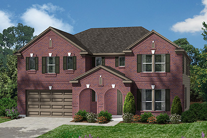 Plan 4043 at lakewood pines estates in houston tx kb home for Home elevation houston