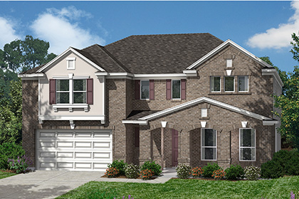 Plan 4043 at lakewood pines estates in houston tx kb home for Houston house elevation