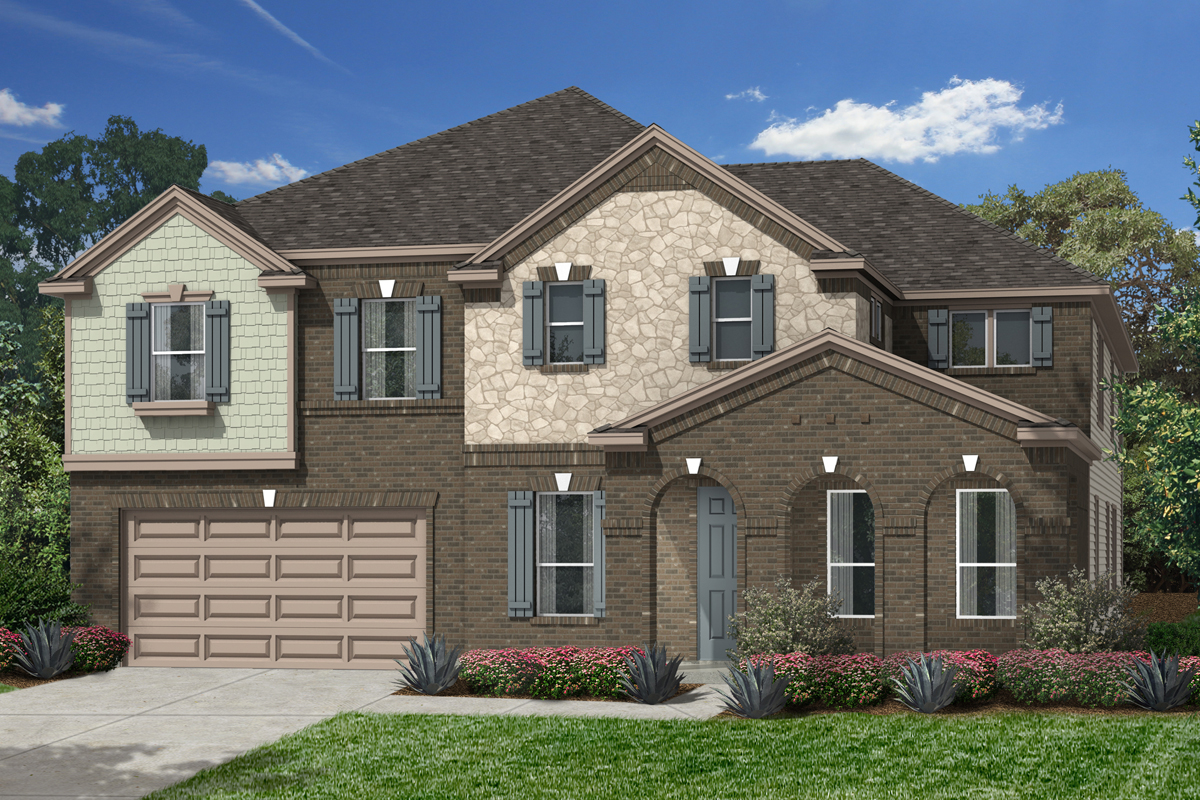 Plan 4811 modeled new home floor plan in lakewood pines for Houston house elevation