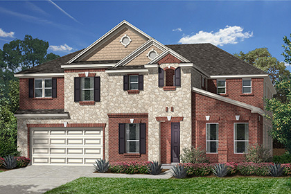 Plan 4811 modeled at lakewood pines estates in houston tx for Houston house elevation