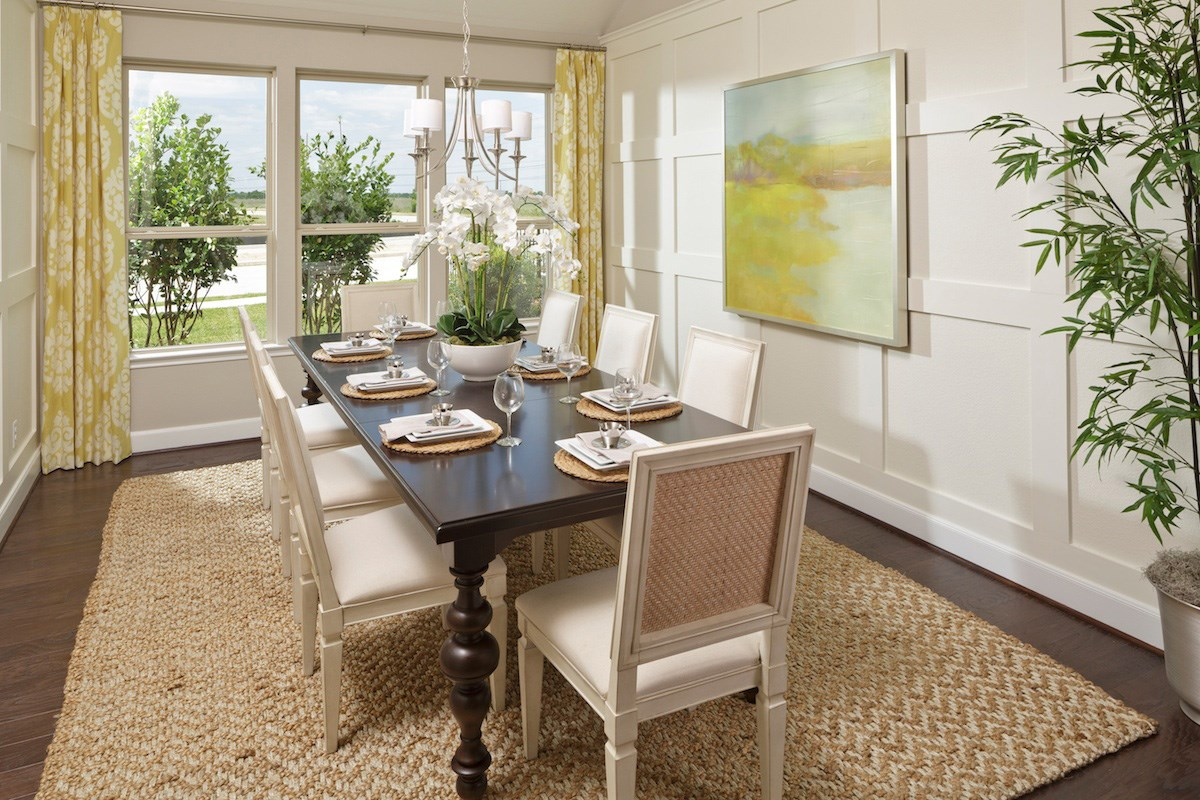 New Homes in Katy, TX - Anserra Estates Plan 2858 Dining Room