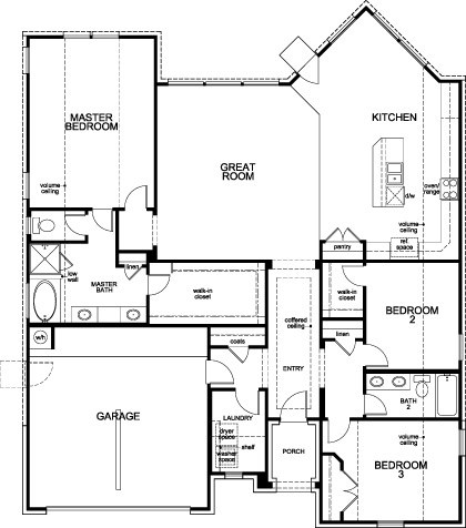 New Homes in Houston, TX - Plan 2031, First Floor