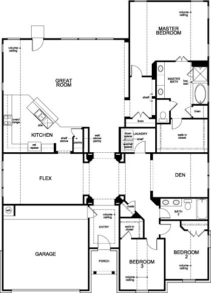 New Homes in Magnolia, TX - Plan 2598, First Floor