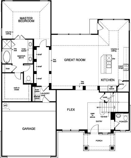 New Homes in Houston, TX - Plan 2866 Modeled, First Floor
