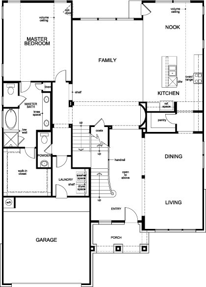 New Homes in Houston, TX - Plan 3444, First Floor
