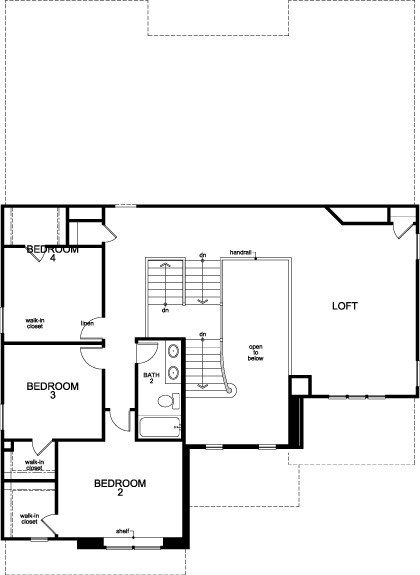 New Homes in Houston, TX - Plan 3444, Second Floor