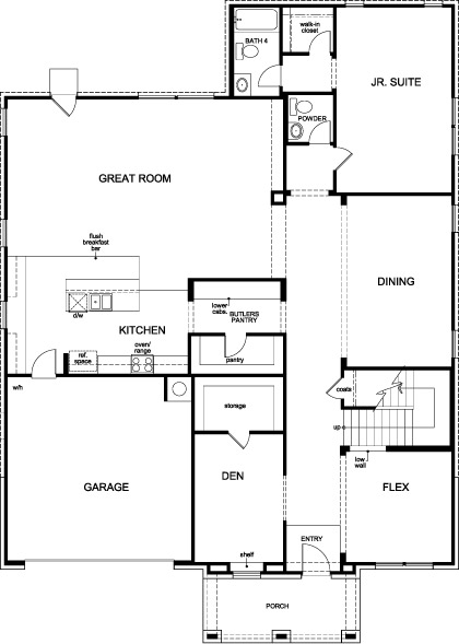 New Homes In Katy, TX   Plan 4811, First Floor