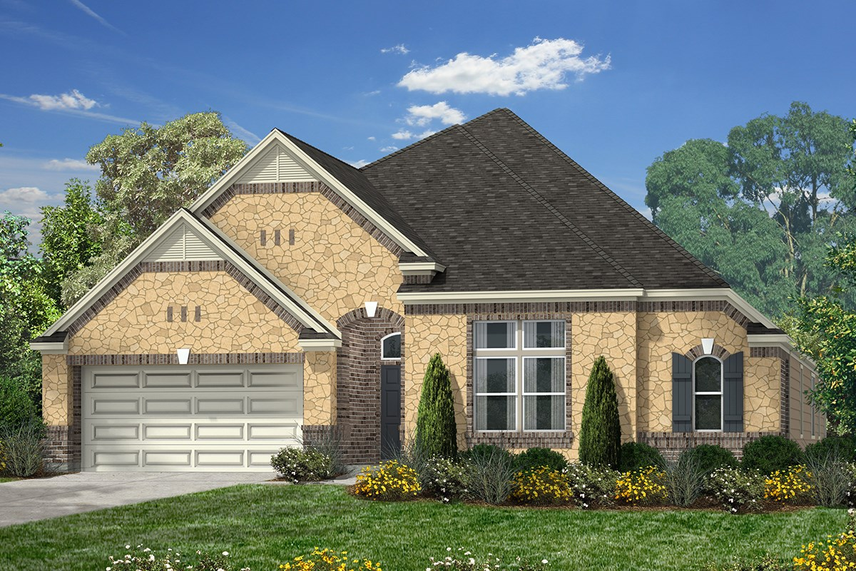 New Homes in Katy, TX - Anserra Estates Plan 3005 - Elevation C