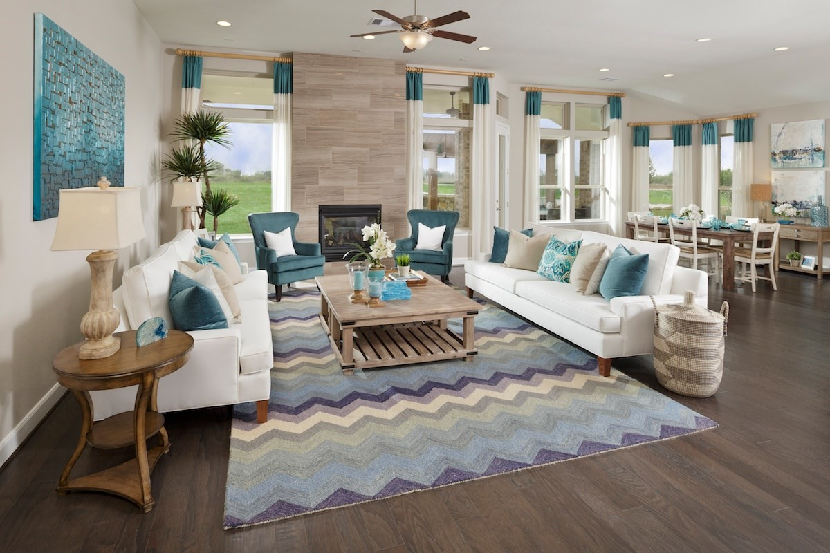 New Homes in Katy, TX - Anserra Estates Plan 3005 Great Room