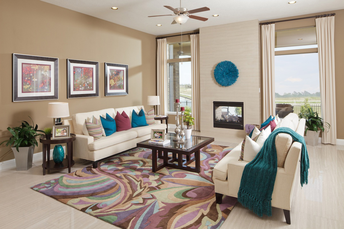 New Homes in Katy, TX - Katy Oaks Estates 3005 Family Room