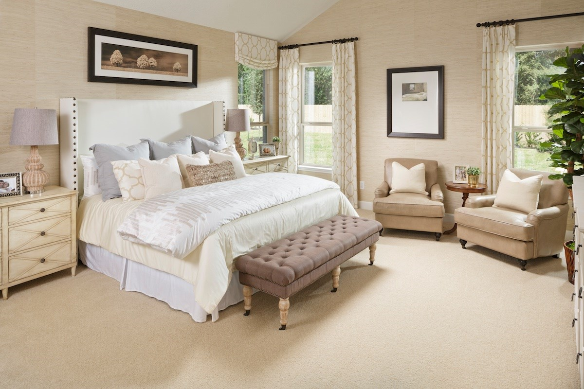 New Homes in Magnolia, TX - Cimarron Creek Estates Plan 3444 Master Bedroom