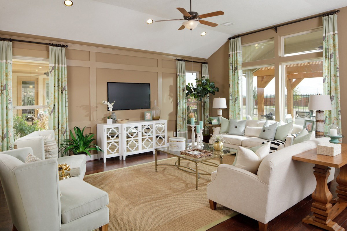 New Homes in Katy, TX - Anserra Estates Plan 2625 Living Room