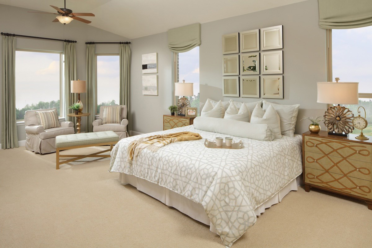 New Homes in Katy, TX - Anserra Estates Plan 2625 Master Bedroom