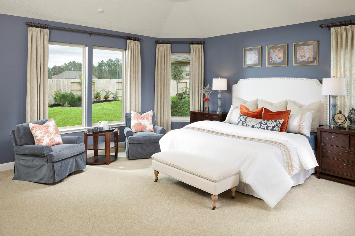 New Homes in Houston, TX - Lakewood Pines Estates - Lakefront Plan 2866 Master Bedroom