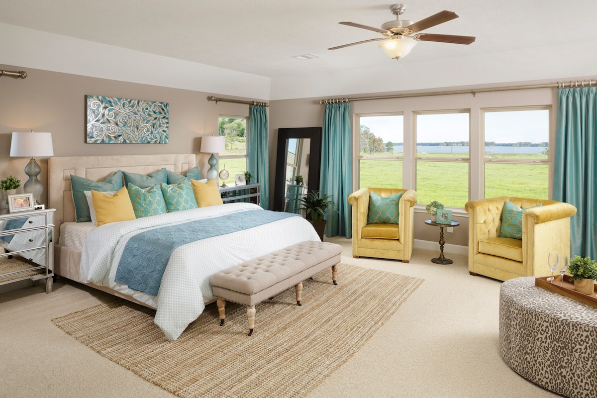 New Homes in Houston, TX - Lakewood Pines Estates - Lakefront Plan 4811 Master Bedroom