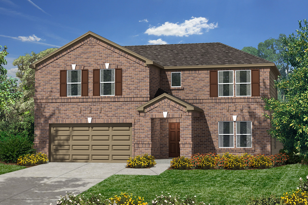 Plan 2932 modeled new home floor plan in canterbury park for Houston house elevation