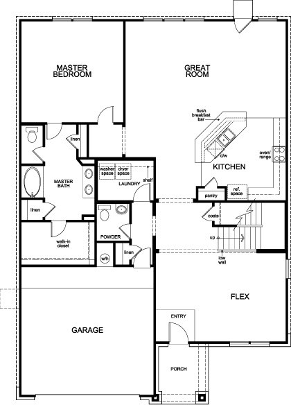 Plan 2932 Modeled New Home Floor Plan In Canterbury Park