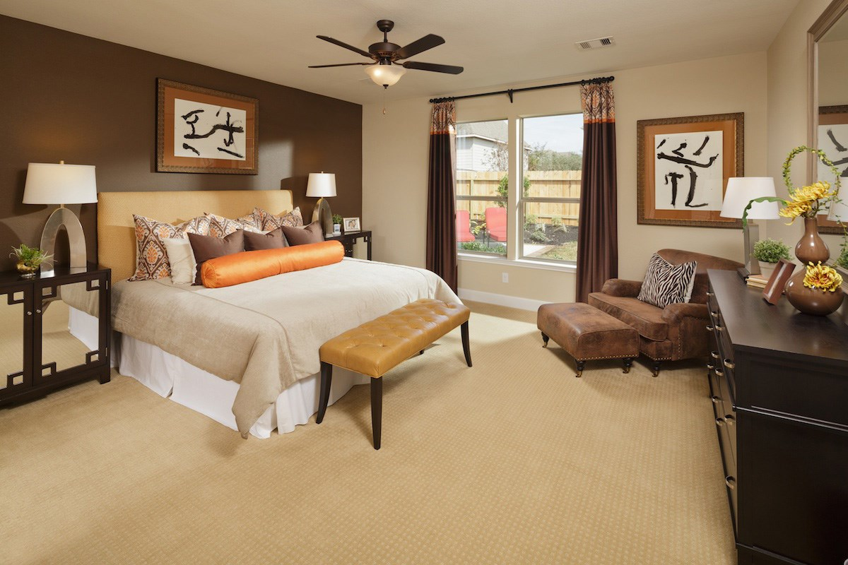 New Homes in Pearland, TX - Canterbury Park 2932 Master Bedroom