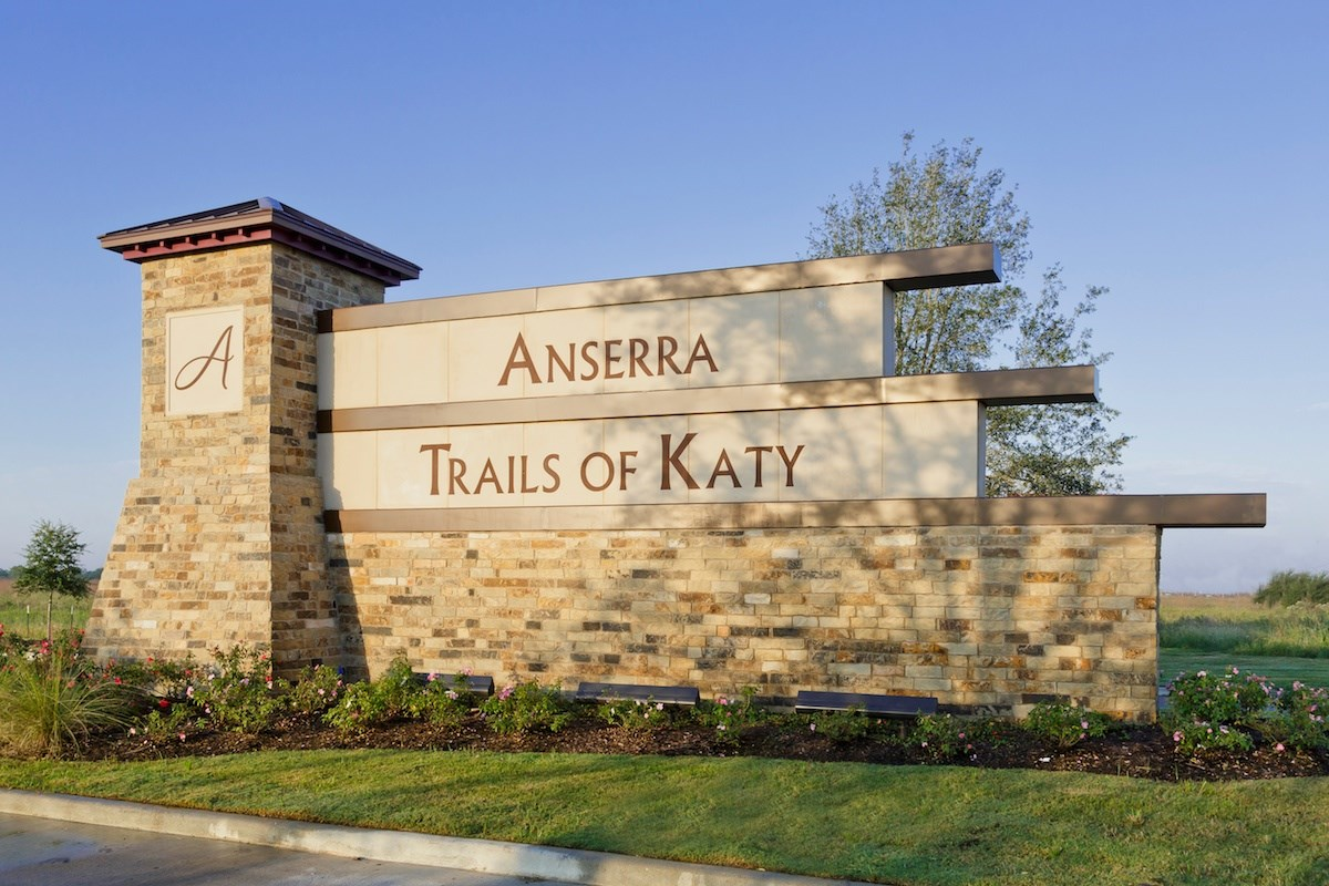 New Homes in Katy, TX - Anserra Estates Entry Monument