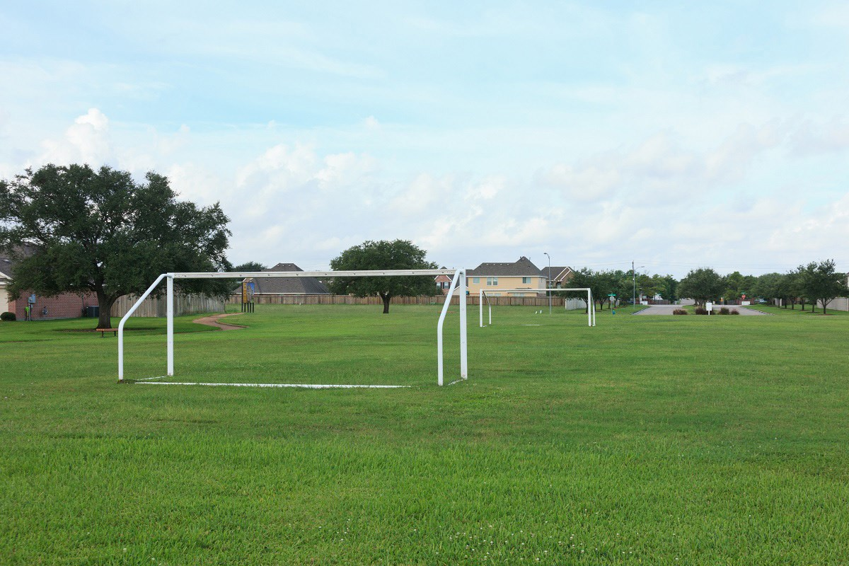 New Homes in Pearland, TX - Canterbury Park Community Soccer Field