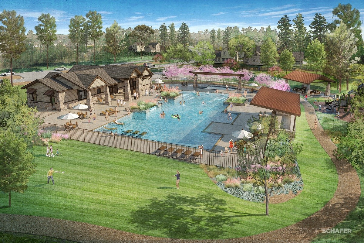 New Homes in Magnolia, TX - Cimarron Creek Preserve Proposed Community Pool