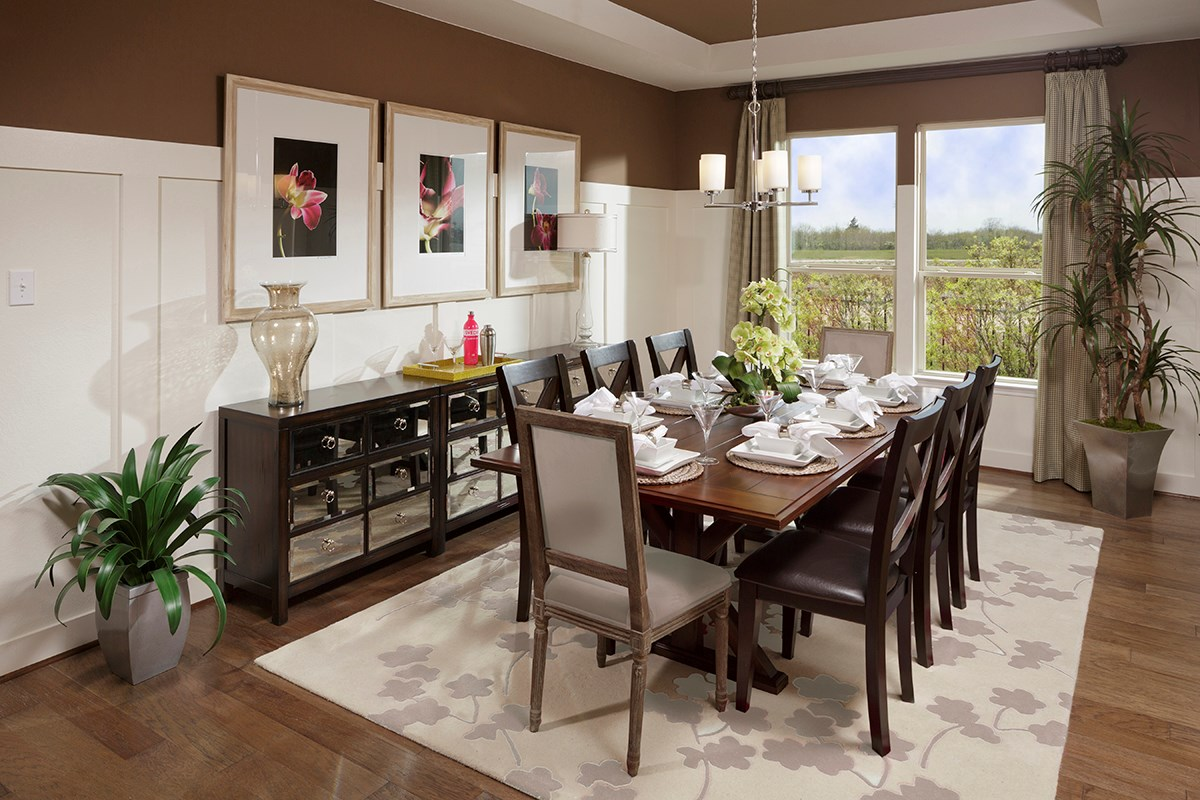 New Homes in Katy, TX - Anserra Preserve Plan 2398 Dining Room