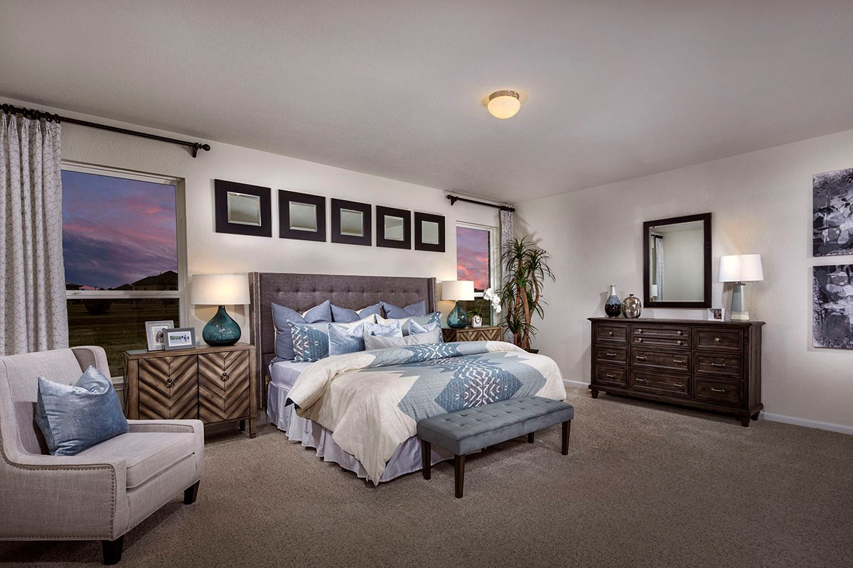 New Homes in Katy, TX - Anserra Preserve Plan 2130 Master Bedroom