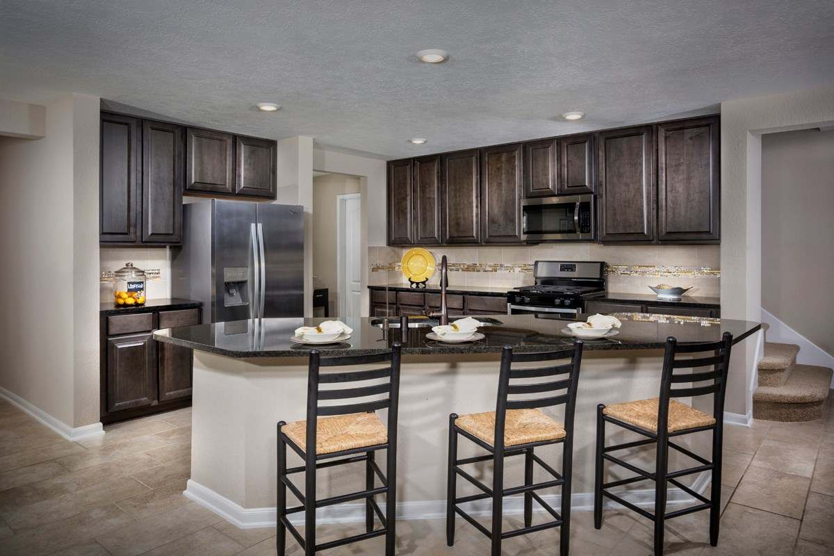 New Homes in Katy, TX - Anserra Preserve Plan 2936 Kitchen