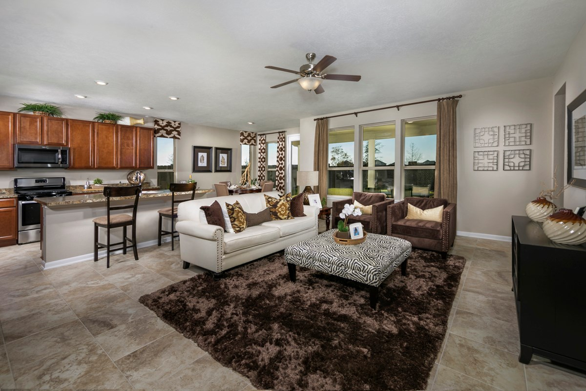 New Homes in Katy, TX - Anserra Preserve Plan 3028 Great Room