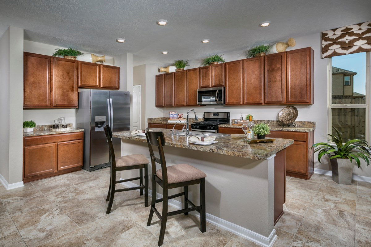 New Homes in Katy, TX - Anserra Preserve Plan 3028 Kitchen