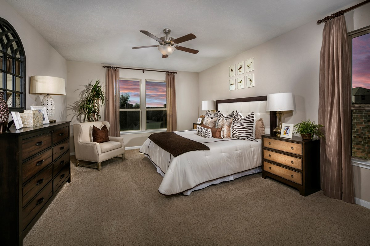New Homes in Katy, TX - Anserra Preserve Plan 3028 Master Bedroom