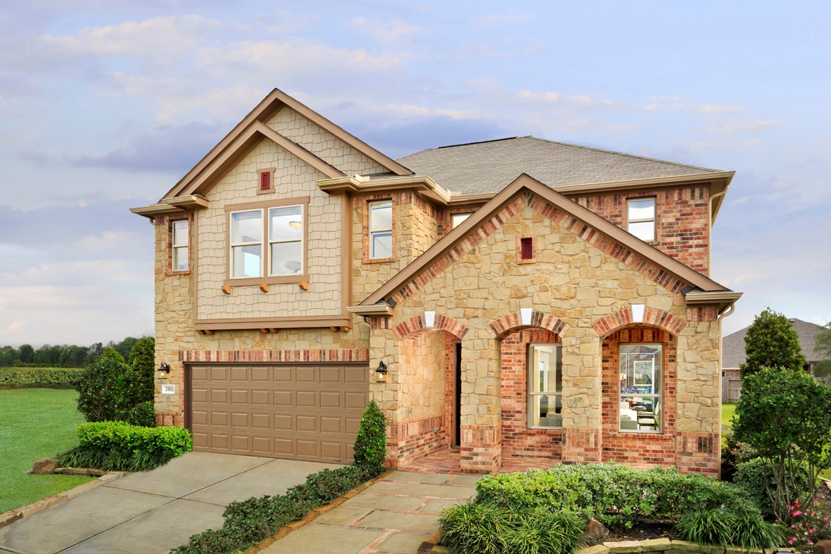 New Homes in Richmond, TX - Briscoe Falls Preserve Plan 3028