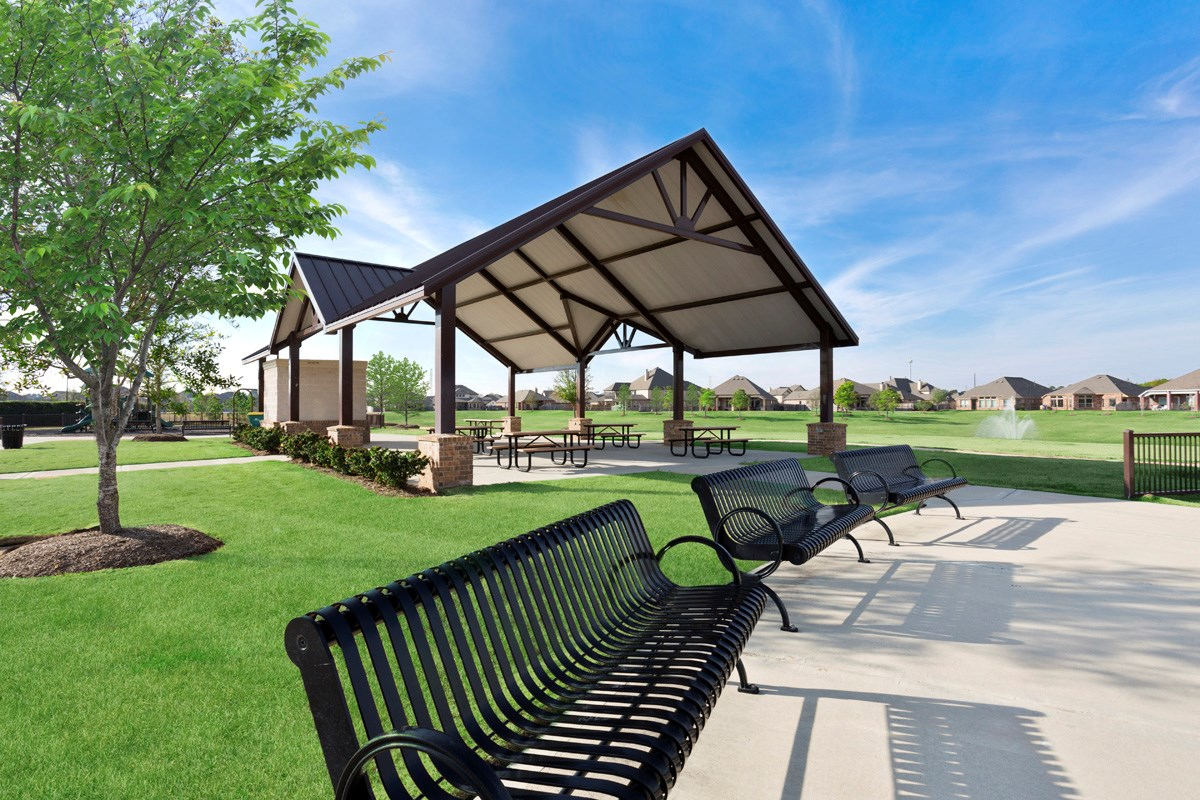New Homes in Richmond, TX - Briscoe Falls Preserve Community Open Air Pavillion