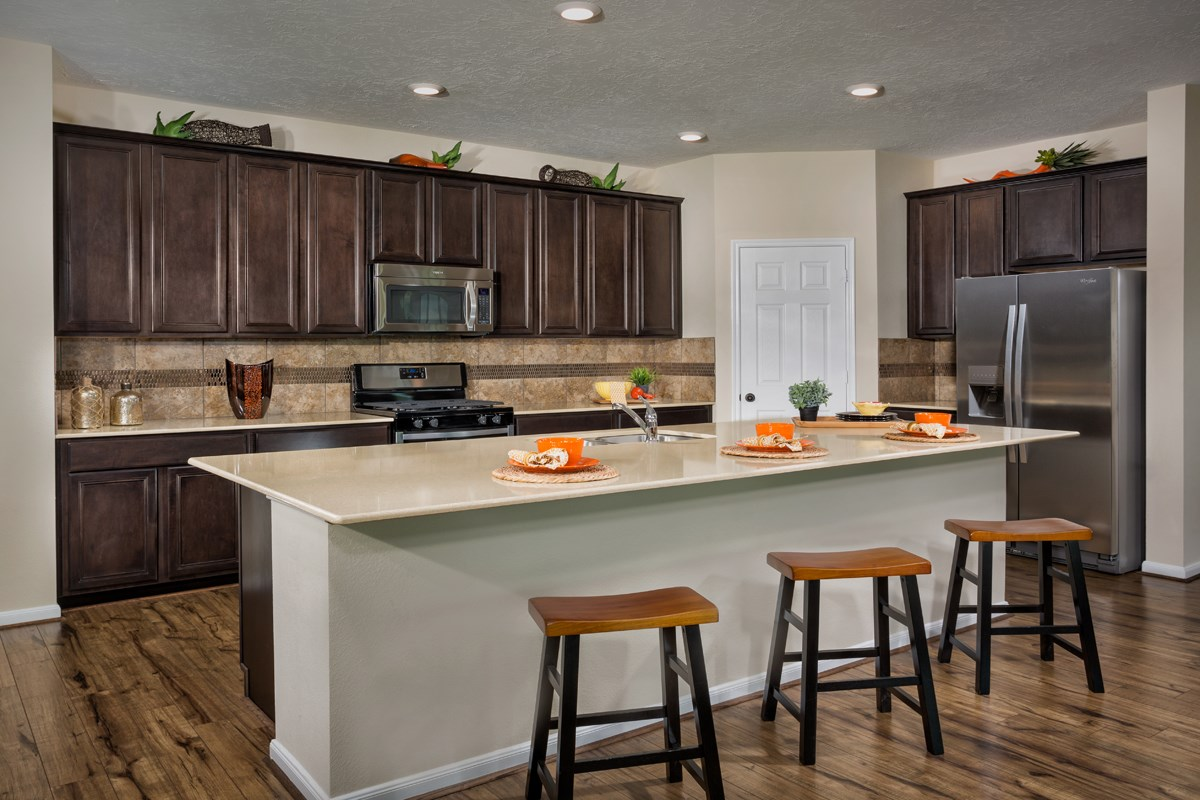 New Homes in Porter, TX - Brookwood Forest Landing Plan 2586 Kitchen