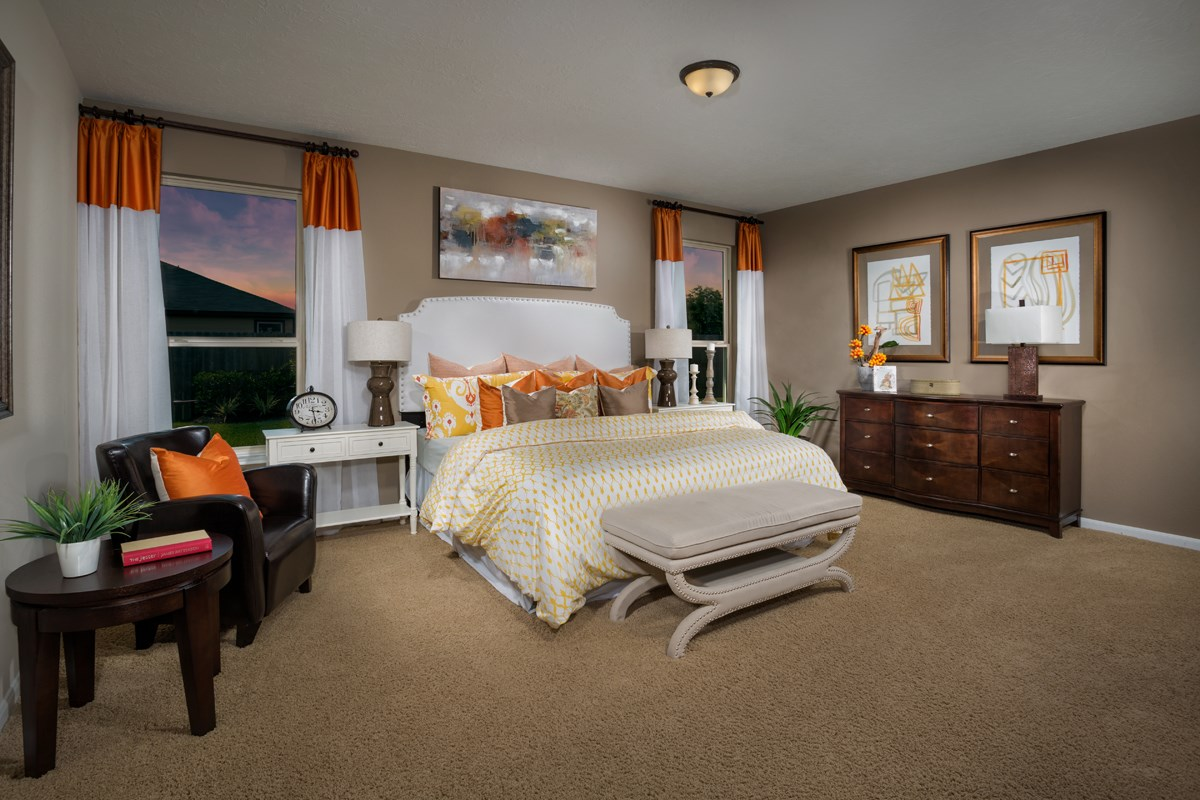 New Homes in Porter, TX - Brookwood Forest Landing Plan 2586 Master Bedroom