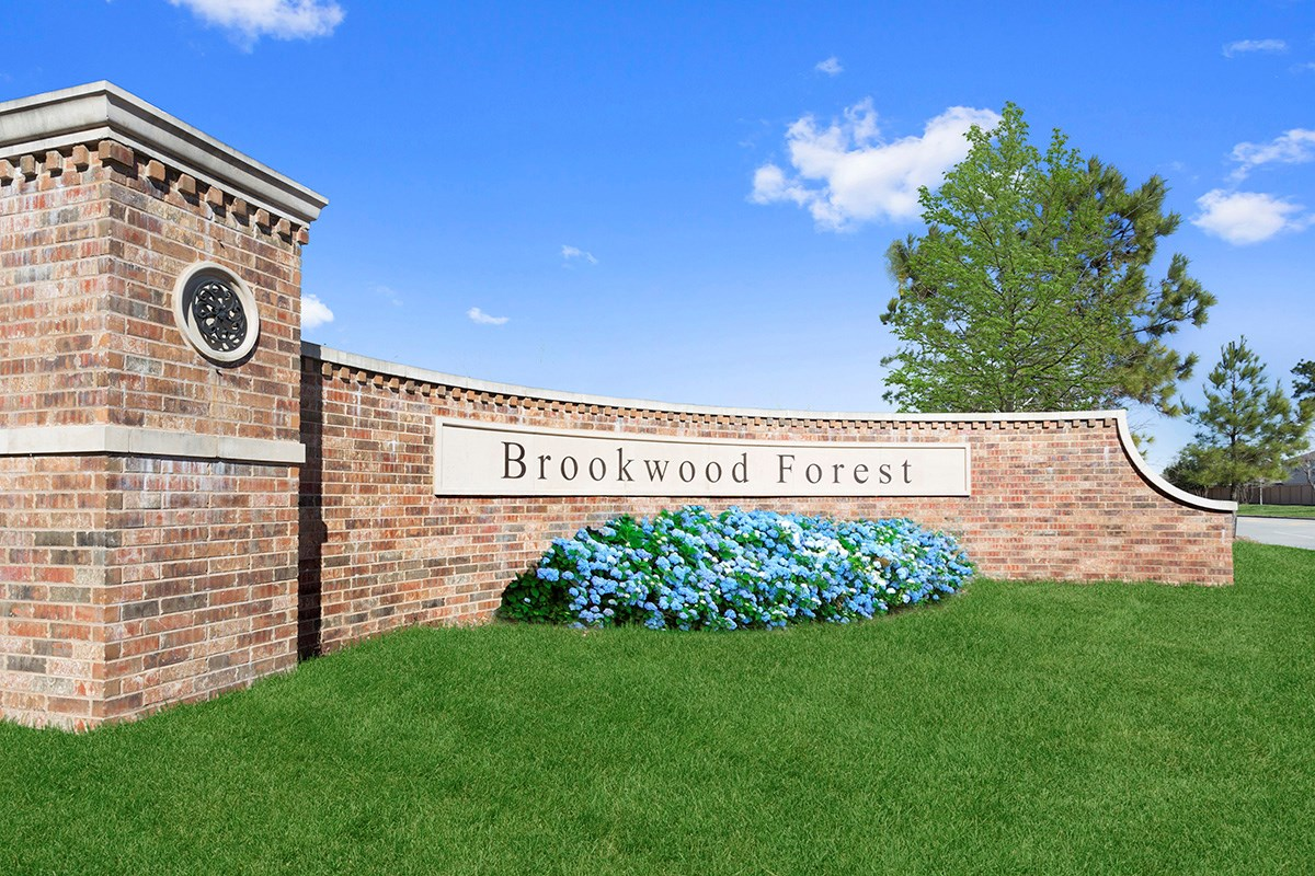 New Homes in Porter, TX - Brookwood Forest Landing Community Entrance