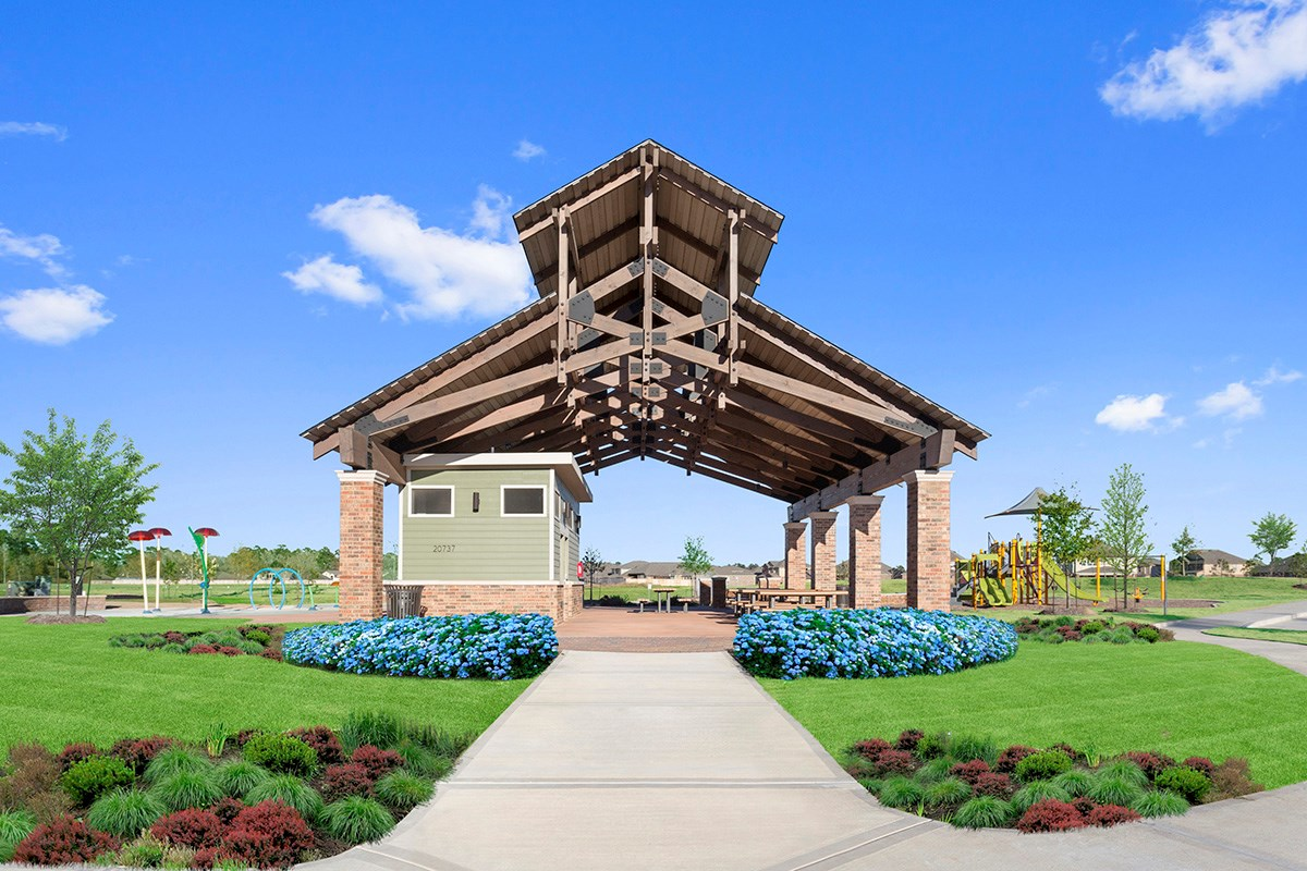 New Homes in Porter, TX - Brookwood Forest Landing Open Air Pavillion