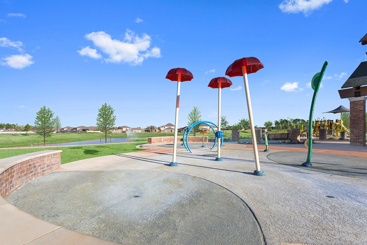 New Homes in Porter, TX - Brookwood Forest Landing Splash Pad