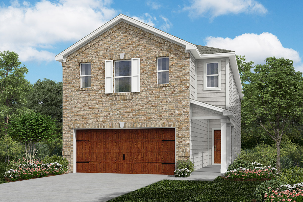 Plan 2211 modeled new home floor plan in cedar brook by for Home elevation houston