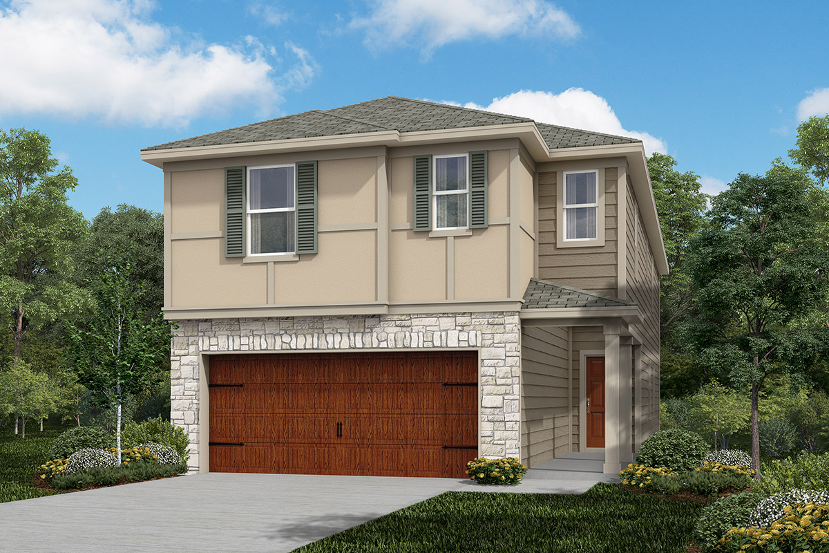 Plan 2211 modeled new home floor plan in cedar brook by for Houston house elevation