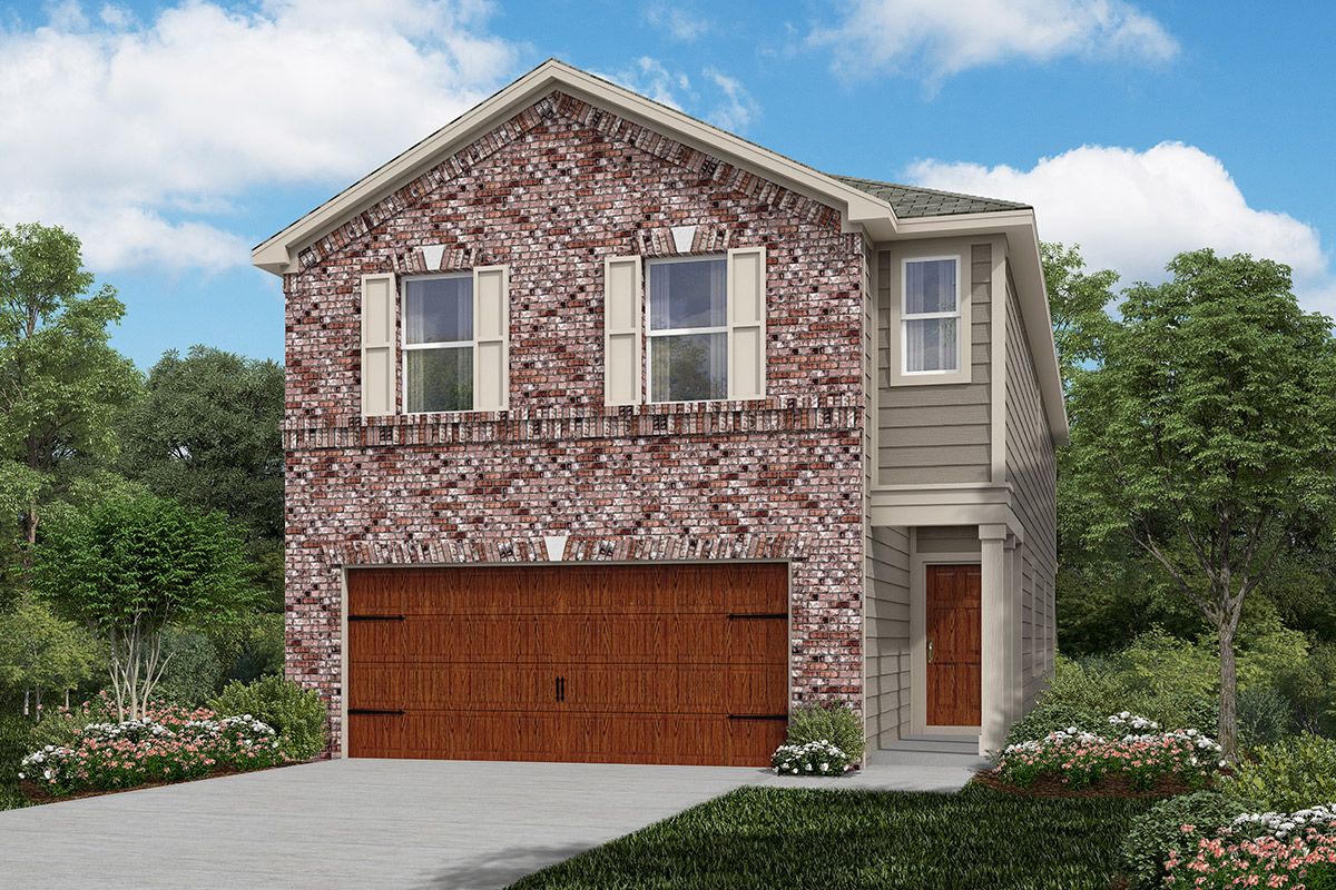 Plan 2315 new home floor plan in cedar brook by kb home for Houston house elevation