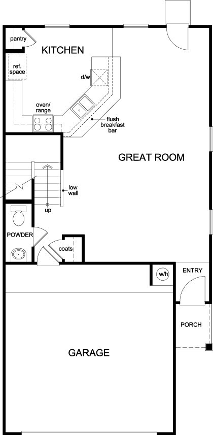 New Homes in Houston, TX - Plan 1855, First Floor