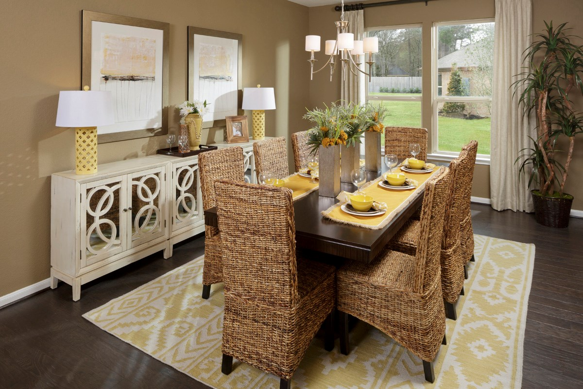 New Homes in Magnolia, TX - Cimarron Creek Preserve Plan 2398 Dining Room