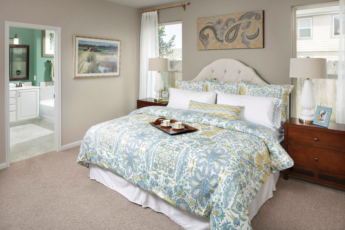 New Homes in Houston, TX - Cypress Creek Crossing Plan 2526 Master Bedroom